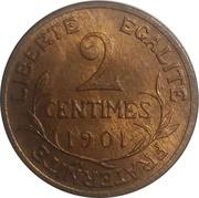 2 centimes Daniel-Dupuis -  revers