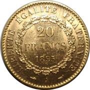 20 francs Génie (IIIè République, Dupré) -  revers