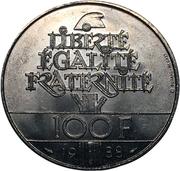 100 francs Fraternité -  revers