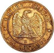 10 centimes Napoléon III (tête laurée) -  revers