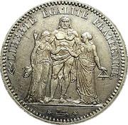 5 francs Hercule (IIIe République) -  revers