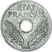 20 centimes Etat français (type 20) -  avers