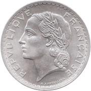 5 francs Lavrillier (Aluminium, poids : 3.5g puis 3.8g) -  avers
