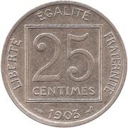 25 centimes Patey (1er type) -  revers