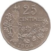 25 centimes Patey (2ème type) -  revers