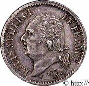 ¼ franc Louis XVIII -  avers