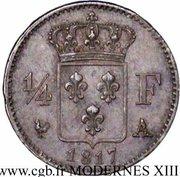 ¼ franc Louis XVIII -  revers