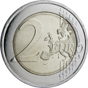 2 euros Bleuet de France (non colorée) -  revers