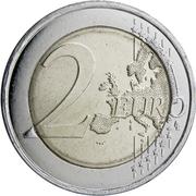 2 euros Bleuet de France (non colorée) -  revers