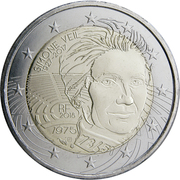 2 euros Simone Veil -  avers