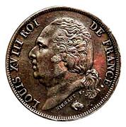 1 franc Louis XVIII -  avers