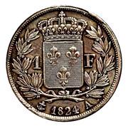 1 franc Louis XVIII -  revers