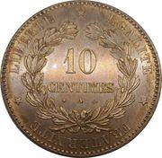 10 centimes Cérès -  revers