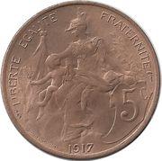 5 centimes Daniel-Dupuis -  revers