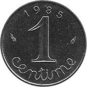 1 centime Épi -  revers