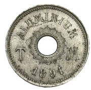 4 centimes (Essai en aluminium uniface, projet TM perforé) – avers