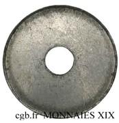 4 centimes (Essai en aluminium uniface, projet TM perforé) – revers