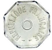 Essai de frappe au module de 1 franc, 8 pans – avers