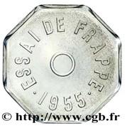 Essai de frappe au module de 1 franc, 8 pans – revers
