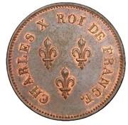 5 francs (essai de virole au module de 5 francs par Moreau) – avers