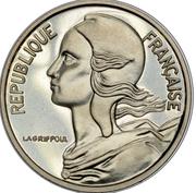 5 centimes Marianne (Piéfort en argent) -  avers