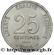 25 centimes Patey (Essai en nickel de Patey type I) -  avers