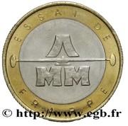 20 francs (Essai de frappe au module de ...) -  avers