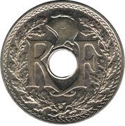 25 centimes Lindauer (maillechort avec points avant et aprés la date) -  avers