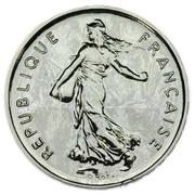 5 francs semeuse (D'AP O.ROTY argent - BU) -  avers