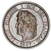 5 centimes à la charte (Essai en bronze de Barre, type 5) -  avers