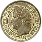 2 centimes à la charte (Essai en bronze de Barre, type DEUX) -  avers