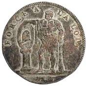 Monnaie de Muller (Essai en billon) – avers