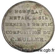 Monnaie de Muller (Essai en billon) – revers