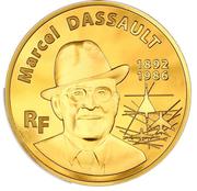 500 euros Marcel Dassault – avers