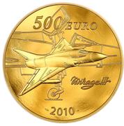 500 euros Marcel Dassault – revers