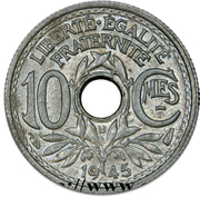 10 centimes Lindauer (Petit module) -  revers