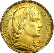 10 Francs (essai de La Fleur) – avers