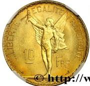 10 Francs (essai de La Fleur) – revers