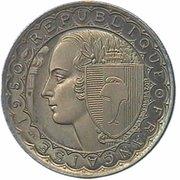 100 francs (Essai de Bazor) – avers