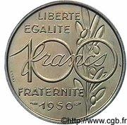 100 francs (Essai de Simon, grand module) – revers