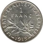 1 franc Semeuse (Argent) -  revers