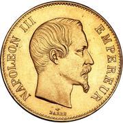 100 francs Napoléon III (tête nue) -  avers