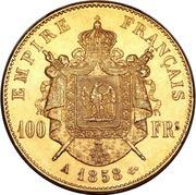 100 francs Napoléon III (tête nue) -  revers