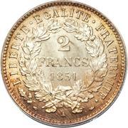 2 francs Cérès (IIe République) -  revers