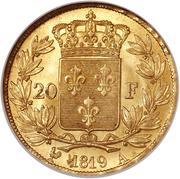 20 francs Louis XVIII (buste nu) -  revers