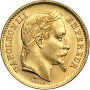 20 francs Napoléon III (Tête laurée) -  avers