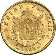 20 francs Napoléon III (Empire français - tête laurée) -  revers