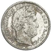 25 centimes Louis-Philippe -  avers