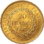 20 francs  Génie (IIe république) -  revers
