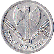 2 francs Francisque -  avers